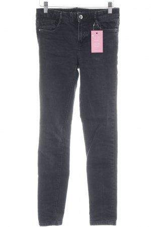 Zara Skinny Jeans anthrazit Casual-Look