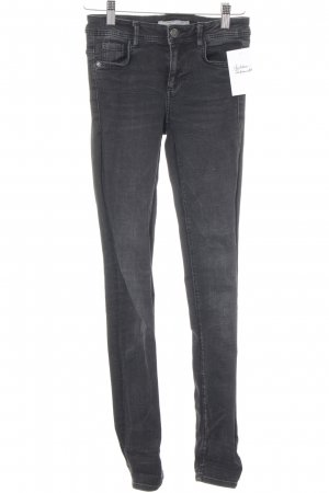 Zara Skinny Jeans anthrazit Washed-Optik