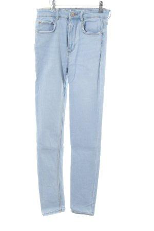 Zara Skinny Jeans neonblau Casual-Look
