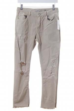 Zara Skinny Jeans beige Casual-Look