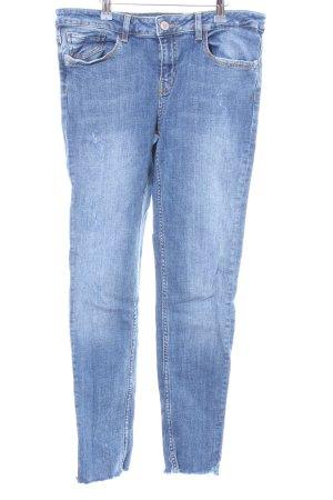 Zara Skinny Jeans blassblau Casual-Look
