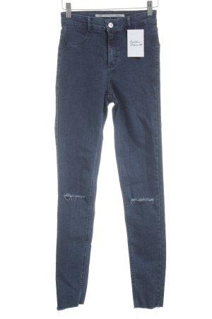 Zara Skinny Jeans blau sportlicher Stil