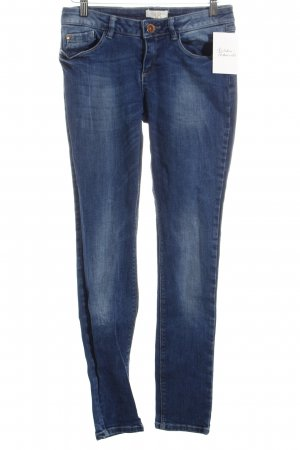 Zara Skinny Jeans blau Washed-Optik
