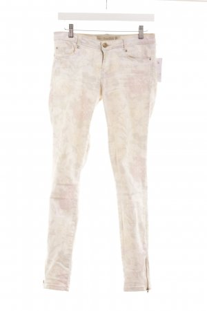 Zara Skinny Jeans Blumenmuster Casual-Look