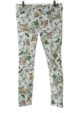 Zara Skinny Jeans Blumenmuster extravaganter Stil