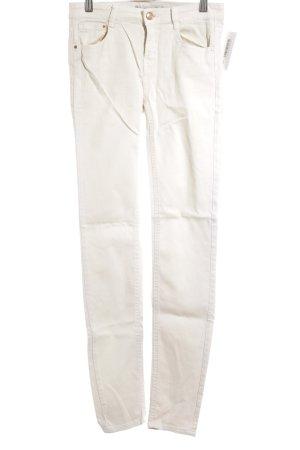 Zara Skinny Jeans creme Street-Fashion-Look