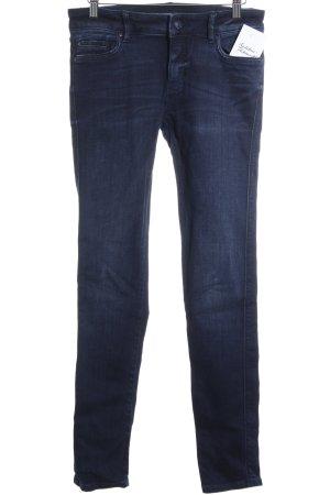 Zara Skinny Jeans dunkelblau Washed-Optik