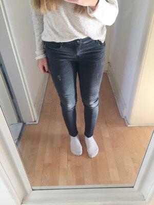 Zara Skinny Jeans dunkelgrau