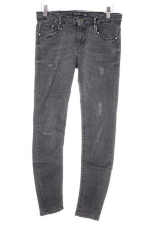 Zara Skinny Jeans dunkelgrau Casual-Look