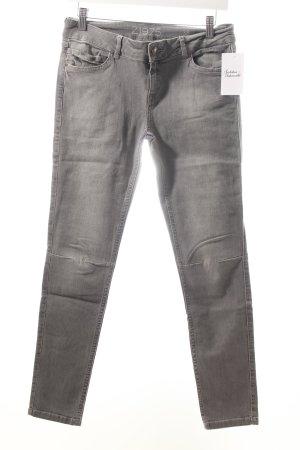 Zara Skinny Jeans grau Casual-Look