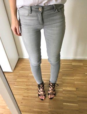 Zara Skinny Jeans Grau Stretch 34 XS