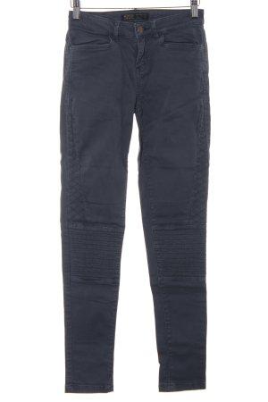 Zara Skinny Jeans graublau Casual-Look
