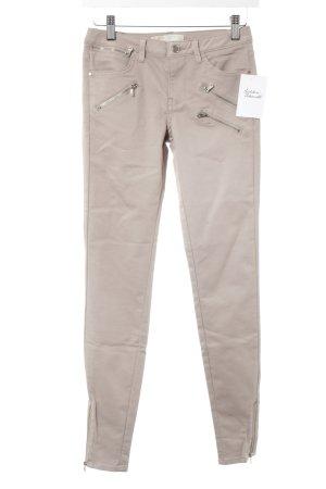 Zara Skinny Jeans graubraun Casual-Look