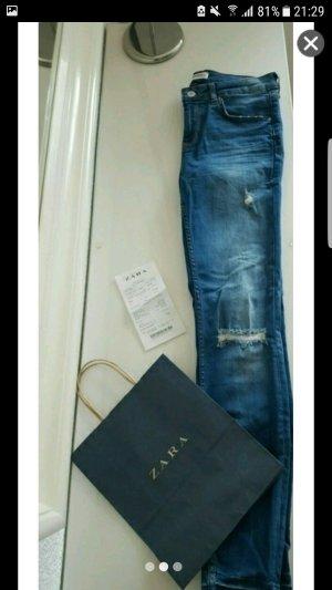 Zara Skinny Jeans mit Mittel hohem Bund