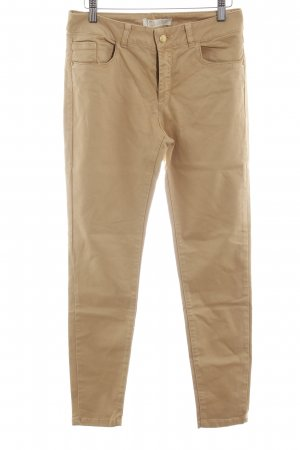 Zara Skinny Jeans sandbraun Casual-Look
