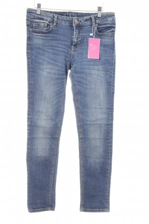 Zara Skinny Jeans stahlblau Casual-Look