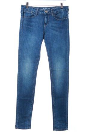Zara Skinny Jeans stahlblau Jeans-Optik