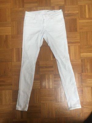 """Zara Skinny Jeans weiß """"beschichtet"""" 38"""