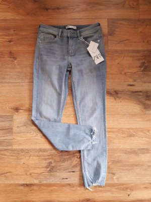 Zara Skinny Stretch Jeans hellblau Gr. 38
