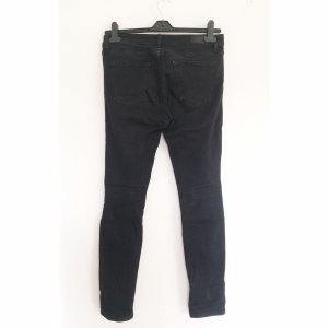 Zara slim Destroyed Jeans schwarz 40 Strech Skinny Denim Hose