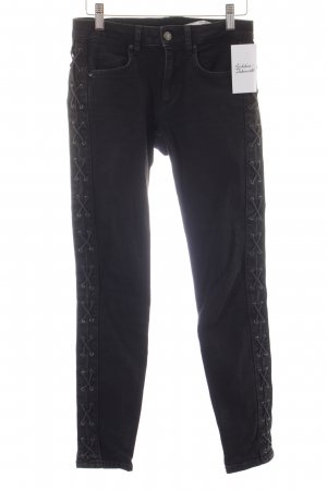 Zara Slim Jeans anthrazit Street-Fashion-Look