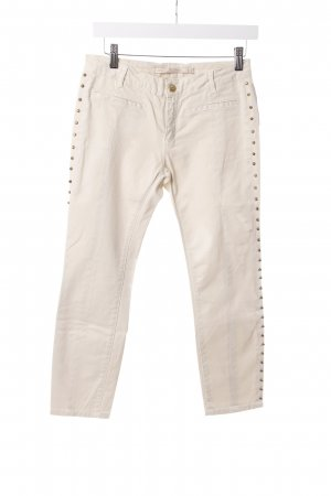 Zara Slim Jeans beige with rivets