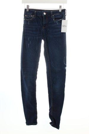Zara Slim Jeans dunkelblau Casual-Look