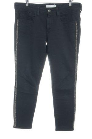 Zara Slim Jeans dunkelblau Glitzer-Optik
