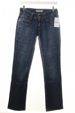 Levi's Slim Jeans dunkelblau-wollweiß Destroy-Optik