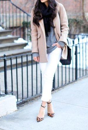 Zara Basic Spijkerbroek wit-zilver