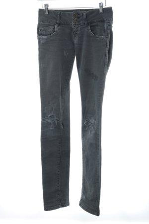 Zara Slim Jeans grau Destroy-Optik
