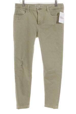 Zara Jeans slim gris vert style décontracté