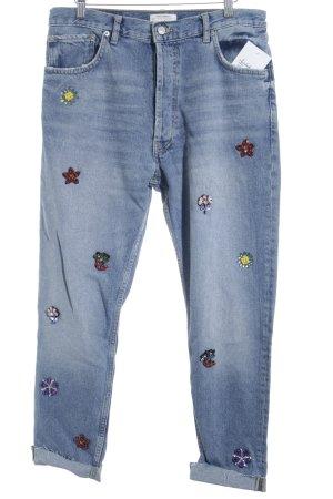 Zara Jeans slim bleu azur style décontracté