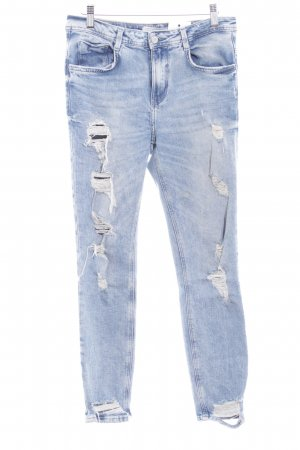 Zara Slim Jeans himmelblau Street-Fashion-Look