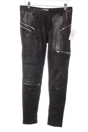 Zara Slim Jeans schwarz Biker-Look