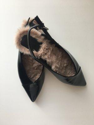 Zara Sling Backs in schwarz wie neu mit Fell innen