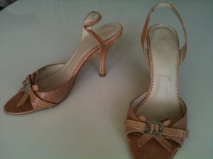 Zara-Slingbacks, Gr. 37, rosa in Reptil-Optik