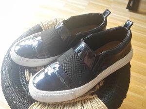 ZARA Slip ons 36 Lack midnight blue Slipper Sneaker asos vans