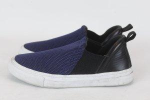 Zara Slip Ons Sneaker Turnschuh Gr. 37 dunkelblau Mesh