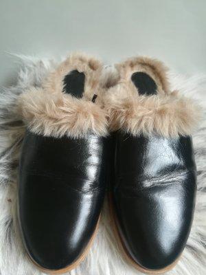 Zara Zapatos formales sin cordones negro-marrón claro