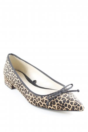 Zara Slippers camel-black leopard pattern street-fashion look