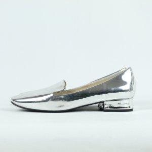 Zara Zapatos sin cordones color plata Sintético