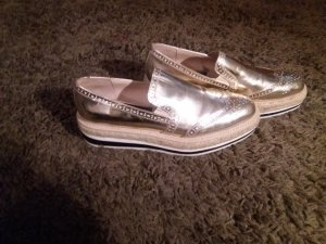Zara Slipper in Gold / fast neu