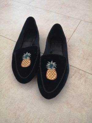 Zara Slippers yellow-dark blue