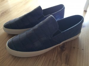 Zara Slippers Slip-On 41 NEU dunkelblau blau Ballerinas