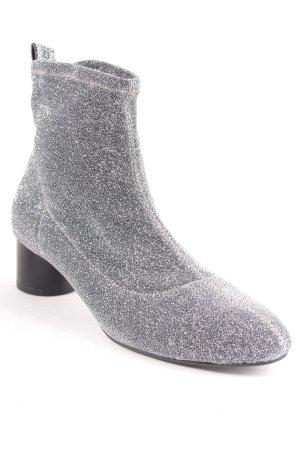Zara Slouch Stiefeletten silberfarben-schwarz extravaganter Stil
