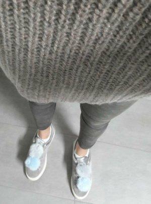 Zara Sneaker Sneakers Low Wildleder Puschel Bommel Fell Fake Fur Pompom 40