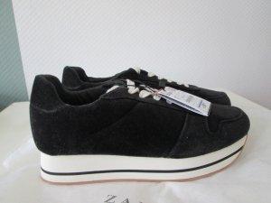 Zara Sneakers Samt Plateau Gr.37 neu