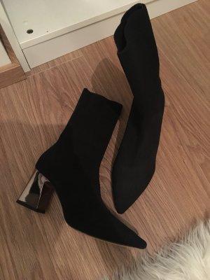 Zara Sock Boots schwarz Größe 38