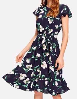 Zara Blouse Dress blue